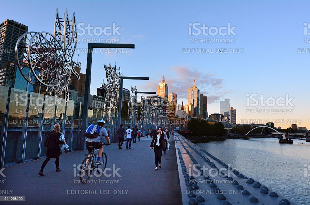 Sandridge Bridge - Melbourne stock photo
