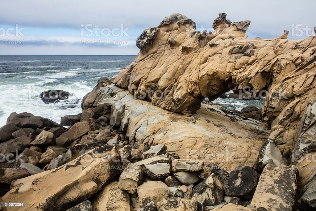 Sandstone Arch in Northern California stock photo