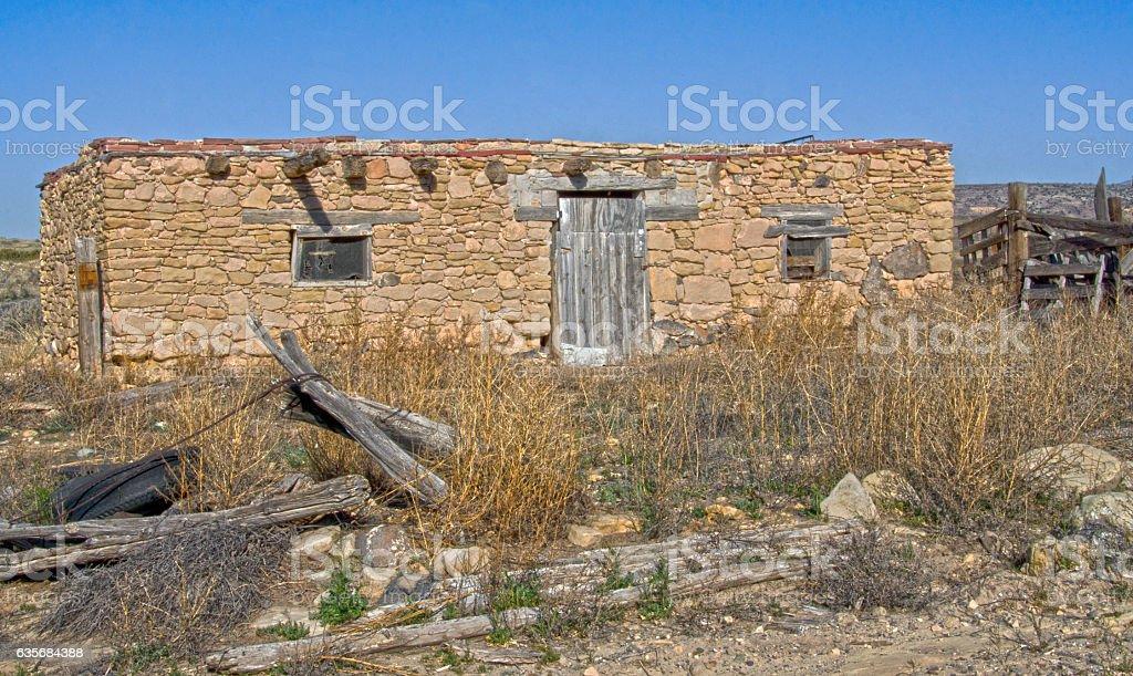 Sandstone Building in Laguna Pueblo stock photo