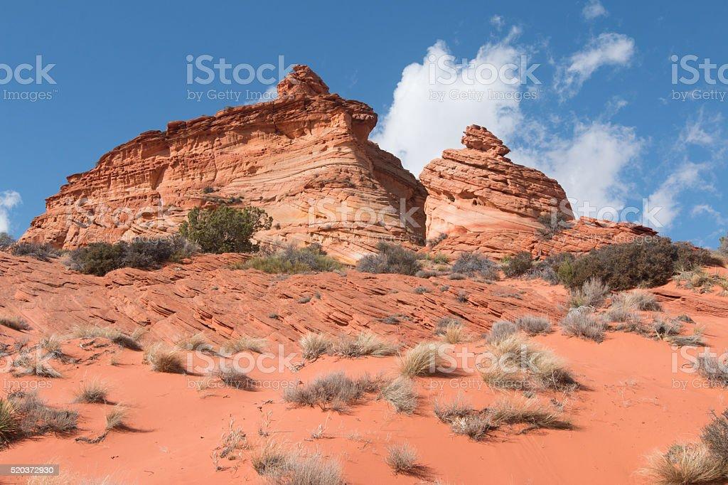 Sandstone buttes stock photo