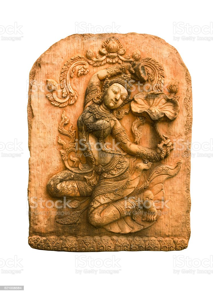 Sandstone carvings woman stock photo