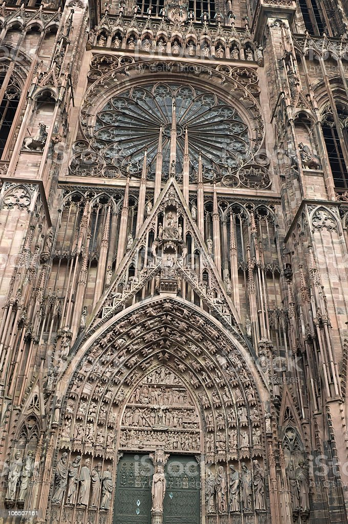 Sandstone Cathedral of Our Lady Strasbourg royalty-free stock photo
