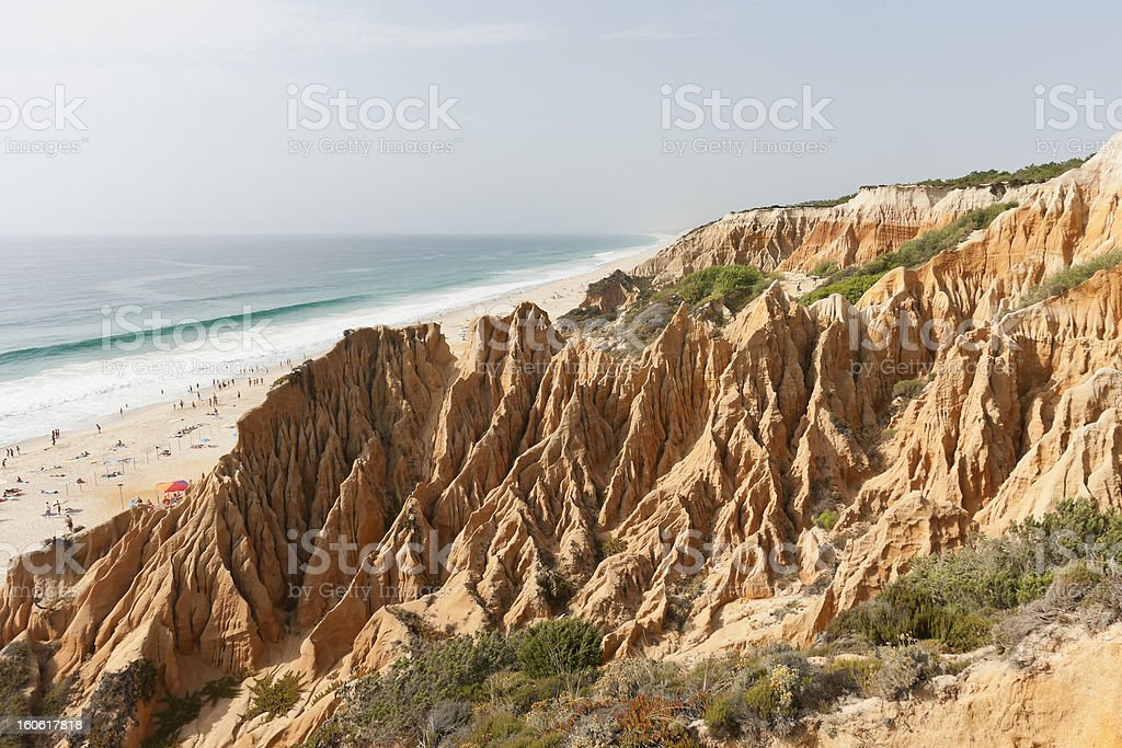 Sandstone cliff royalty-free stock photo