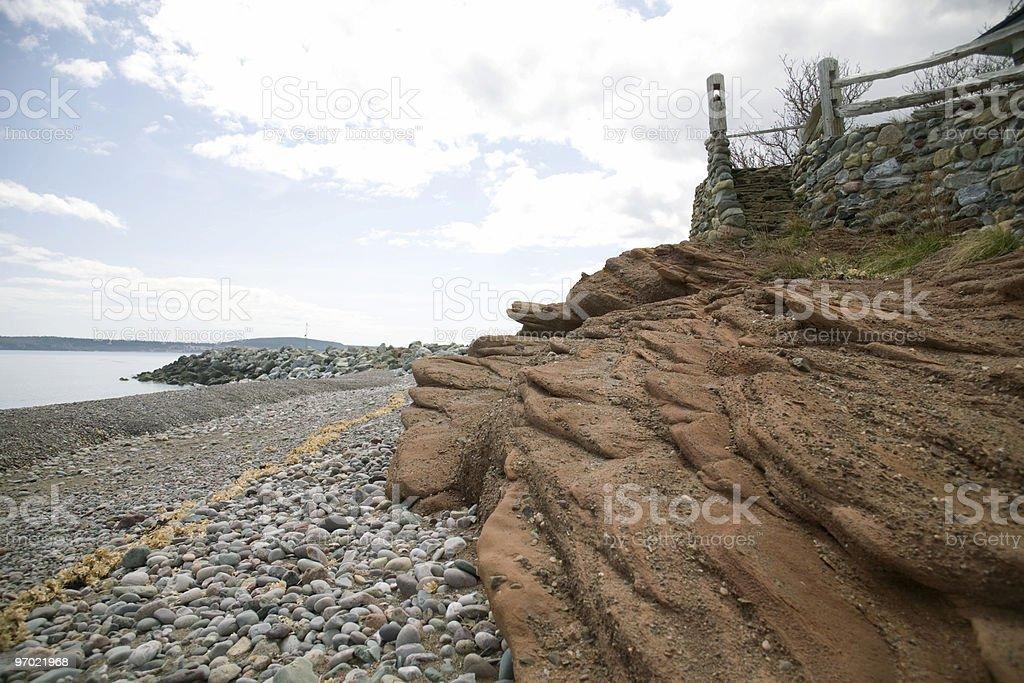 Sandstone cliffs stock photo