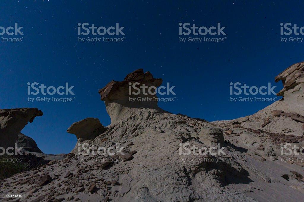 Sandstone formation in Ischigualasto, Argentina stock photo