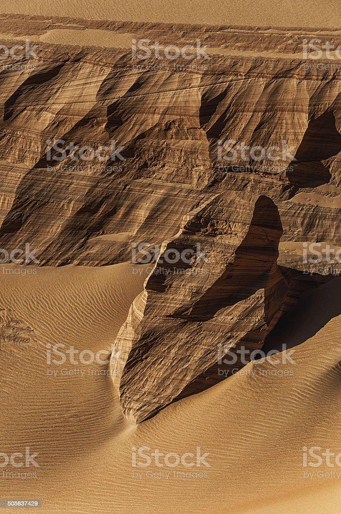 Sandstone in the desert of Namibia. stock photo