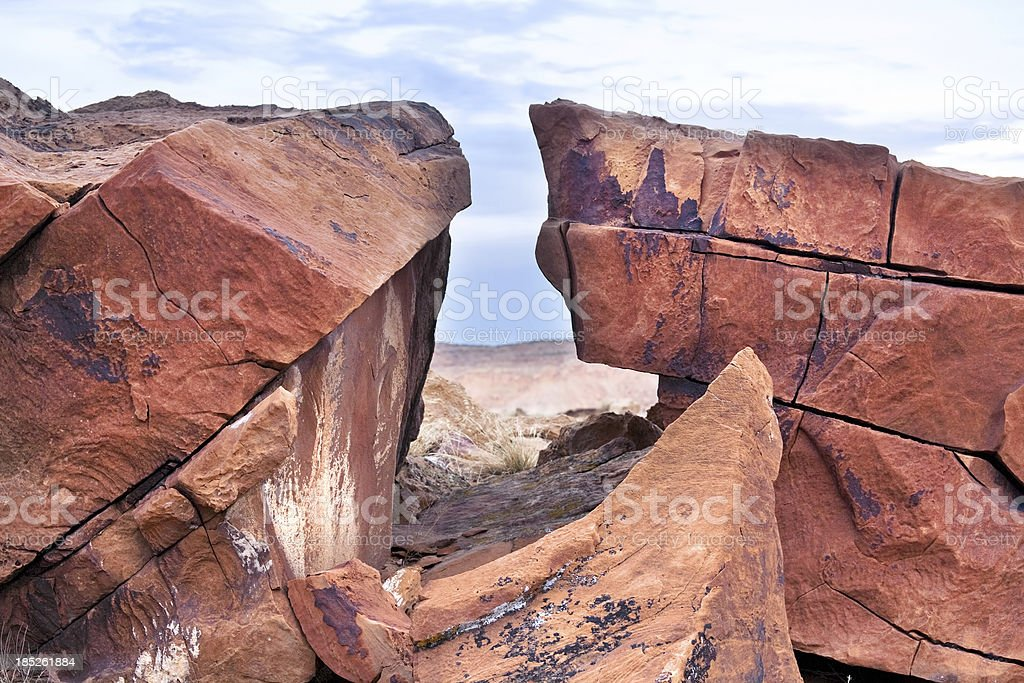 sandstone landscape stock photo