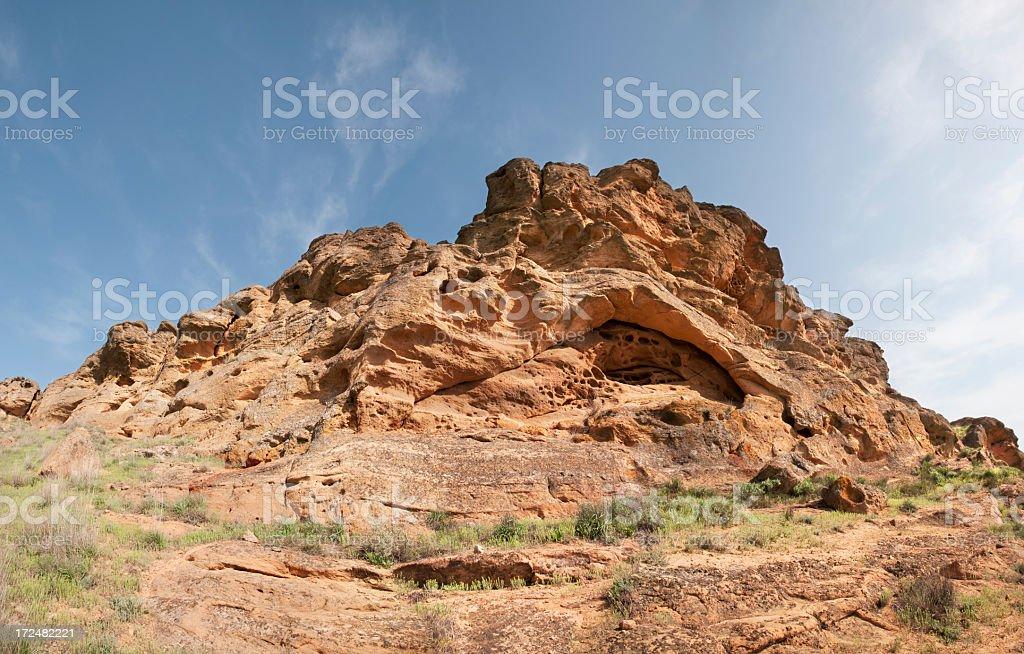 Sandstone Mountains Bogdo. royalty-free stock photo