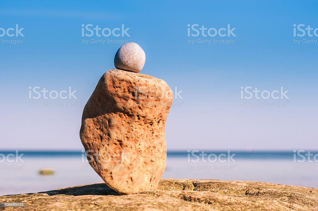 Sandstone on the coast stock photo