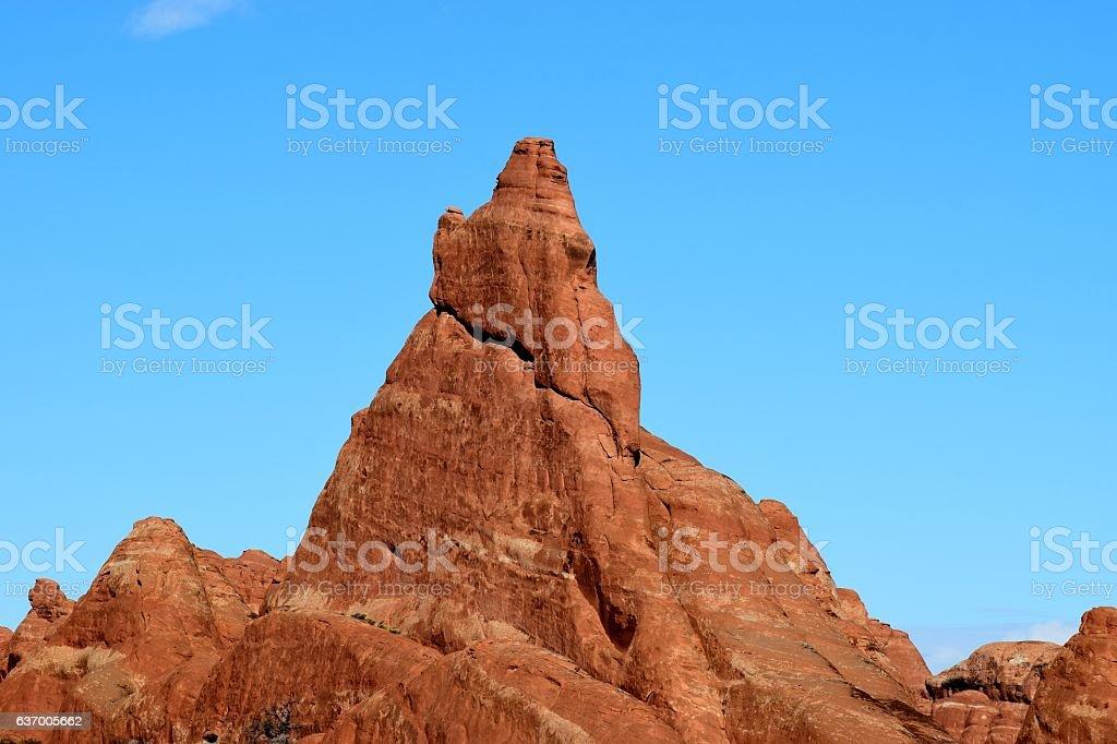 Sandstone Pinnacle stock photo