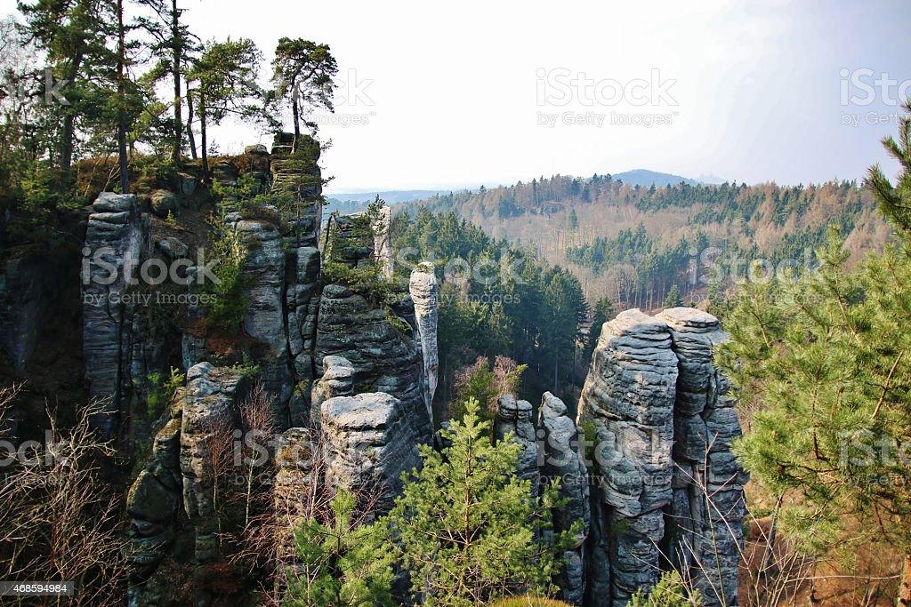 Sandstone rocks in National park stock photo