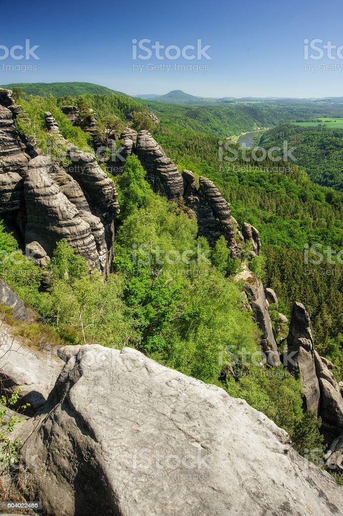 Sandstone rocks stock photo