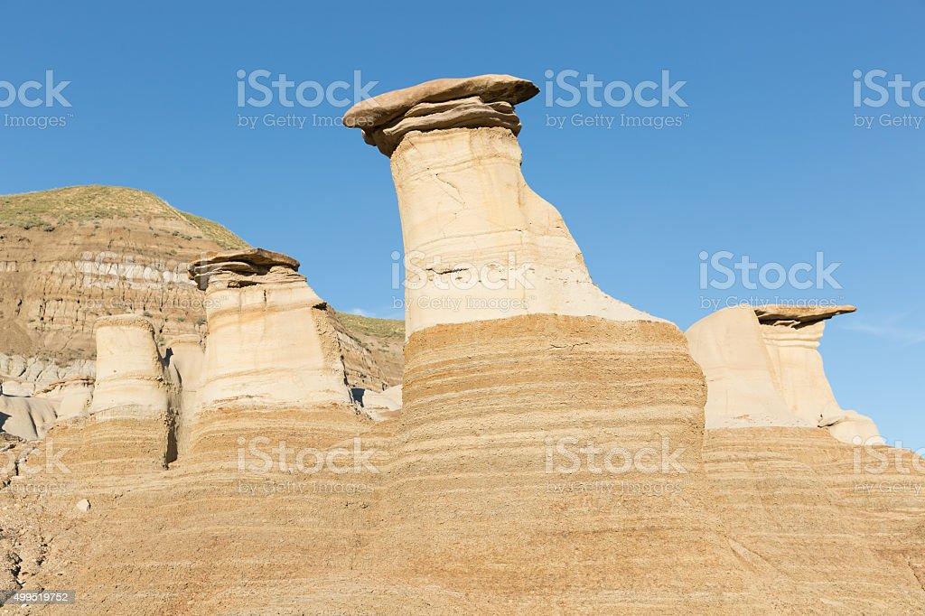 sandstone scenery Badlands Drumheller Canada stock photo