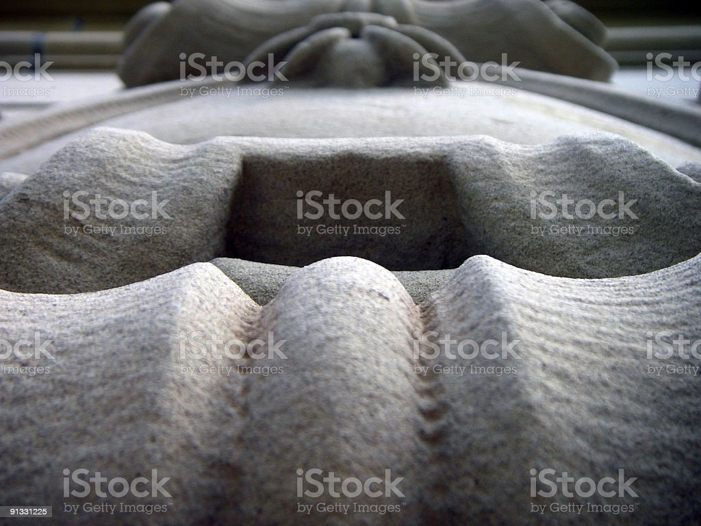 Sandstone Shield royalty-free stock photo