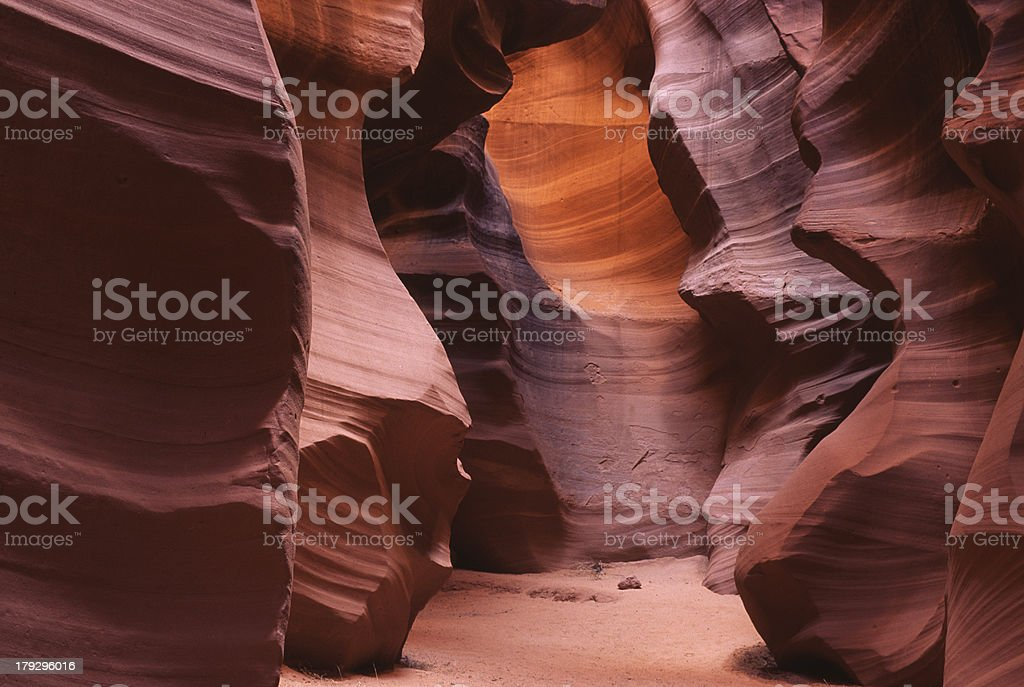 Sandstone Slot Canyon of AZ 4 royalty-free stock photo