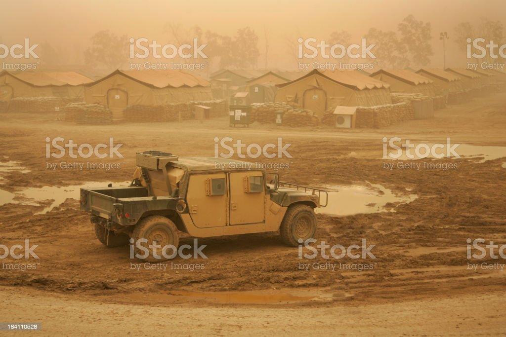 Sandstorm Truck stock photo