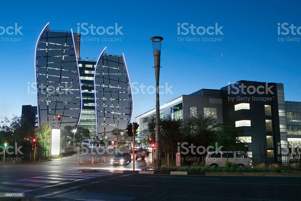 Sandton City buildings in South Africa stock photo