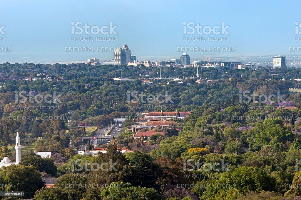 Sandton City from Johannesburg stock photo