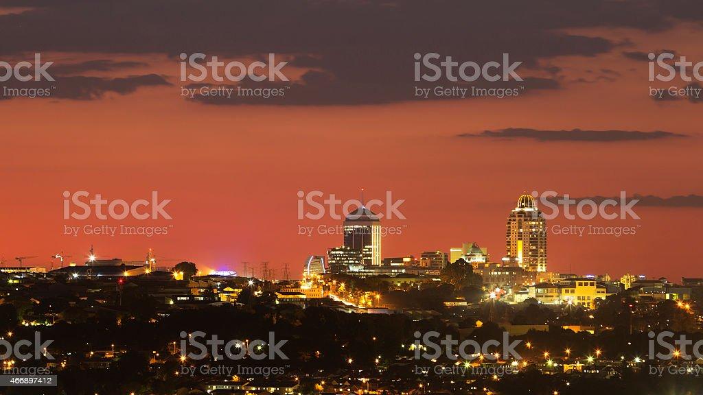 Sandton Skyline stock photo