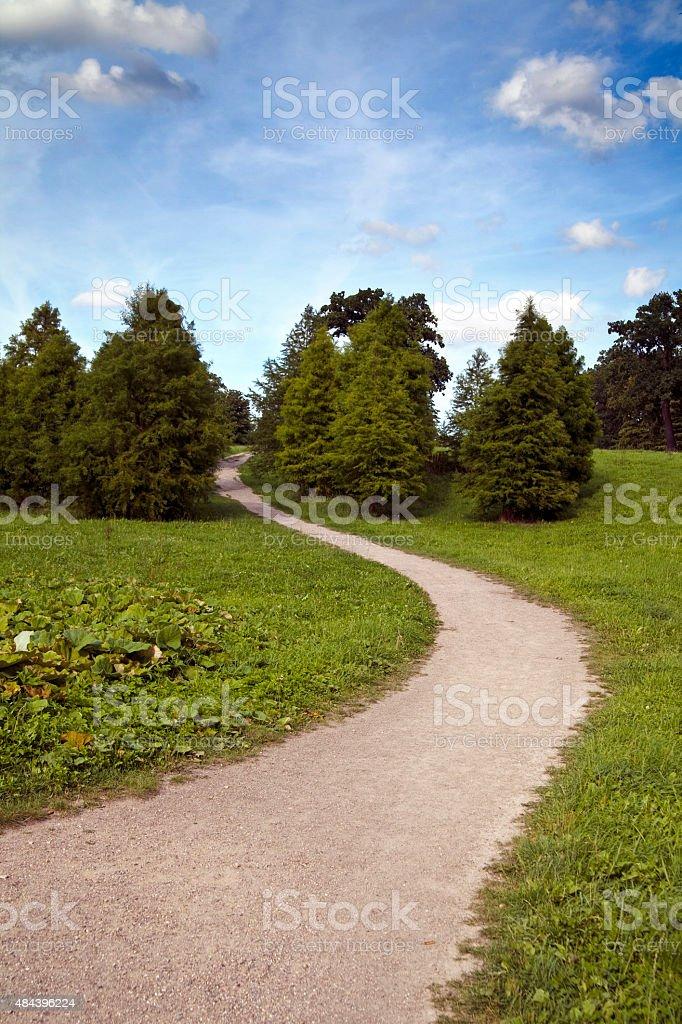 Sandweg in einem Park stock photo