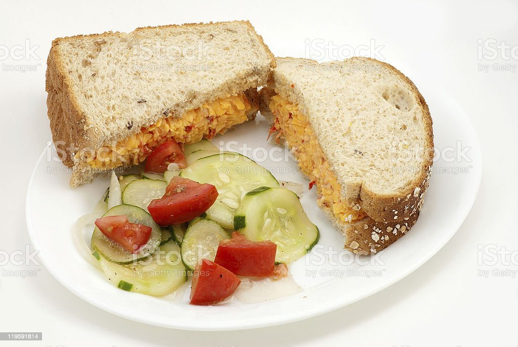 Sandwich and Salad royalty-free stock photo