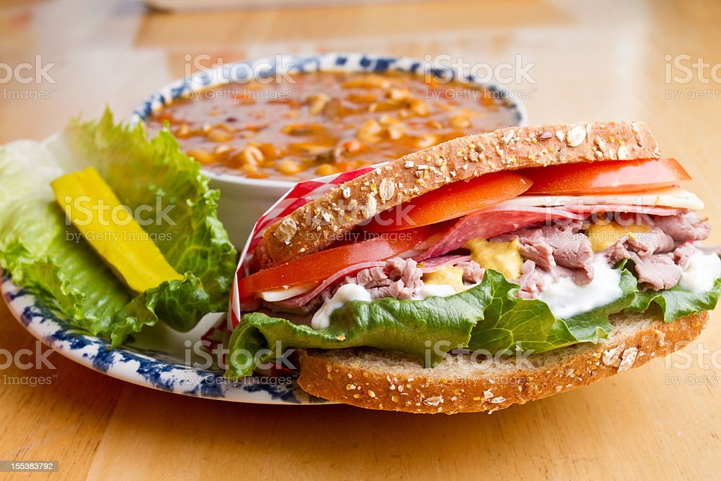 Sandwich and Soup royalty-free stock photo
