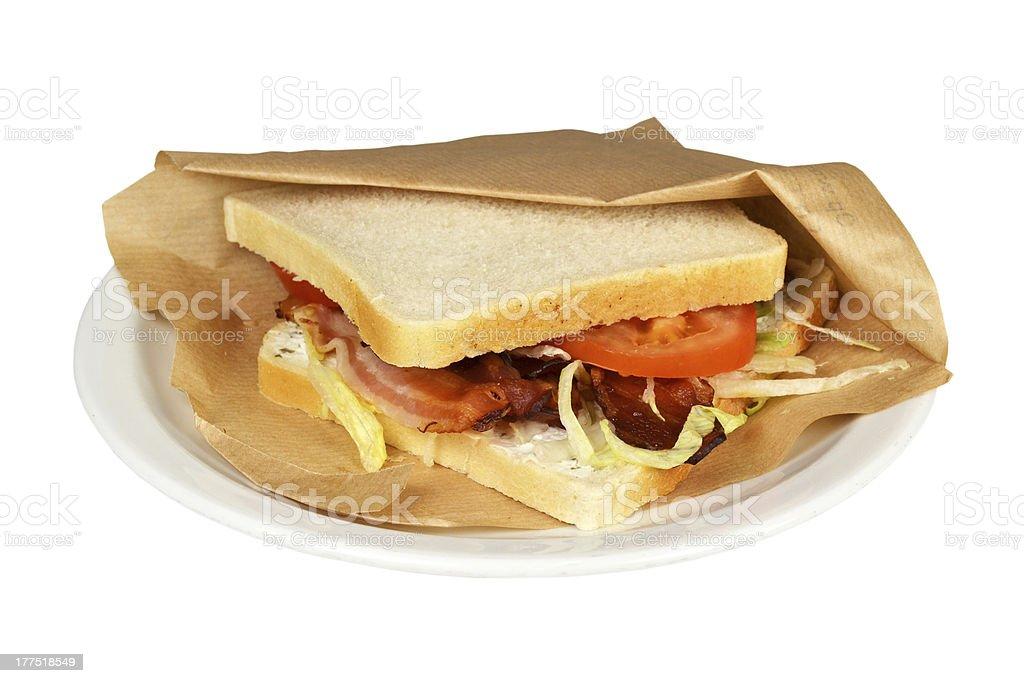 Sandwich bacon, BLT. stock photo