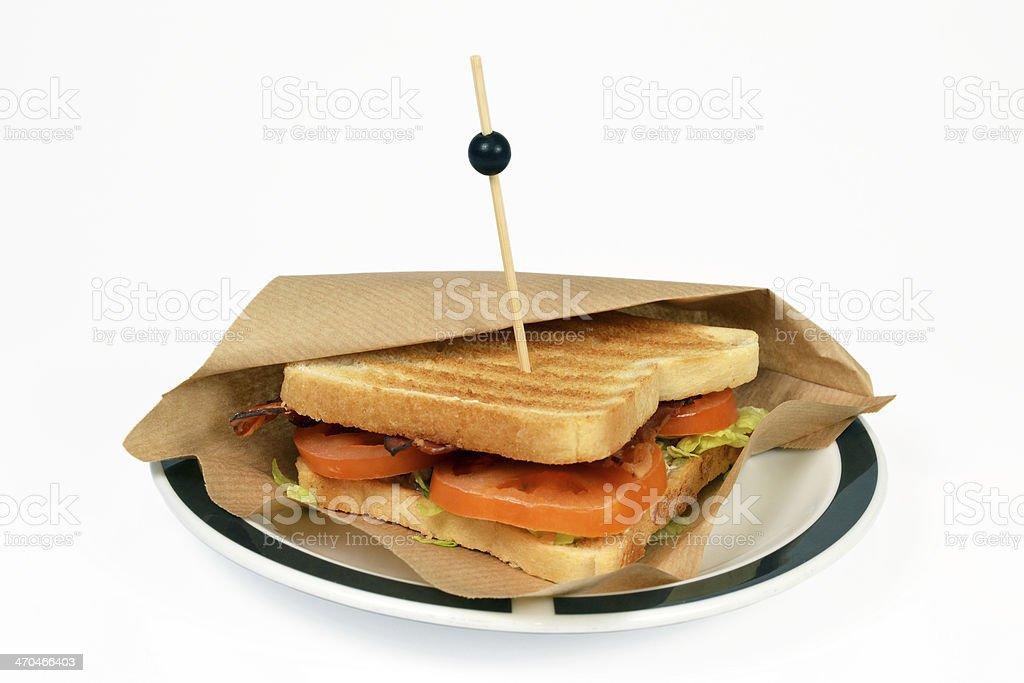 BLT サンドイッチベーコンます。 ロイヤリティフリーストックフォト