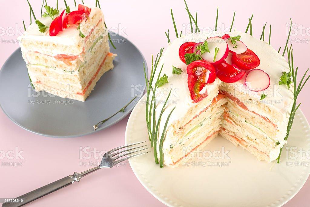 Sandwich cake stock photo