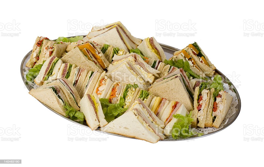 Sandwich Catering Platter royalty-free stock photo
