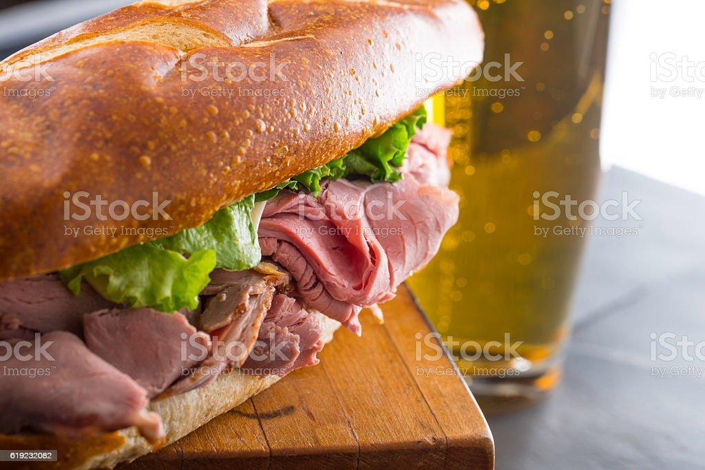 Sandwich close up stock photo