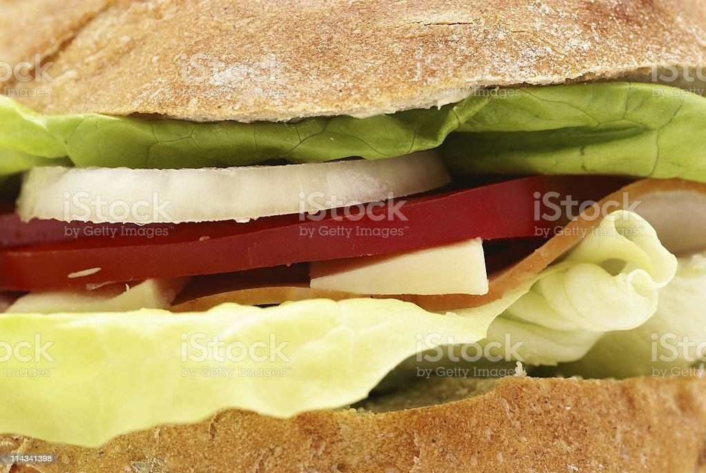 Sandwich close-up royalty-free stock photo