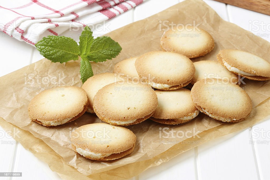 sandwich cookies royalty-free stock photo