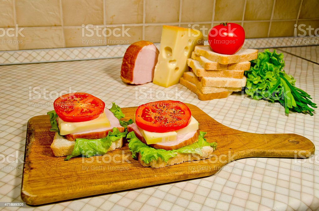 Sandwich cooking royalty-free stock photo