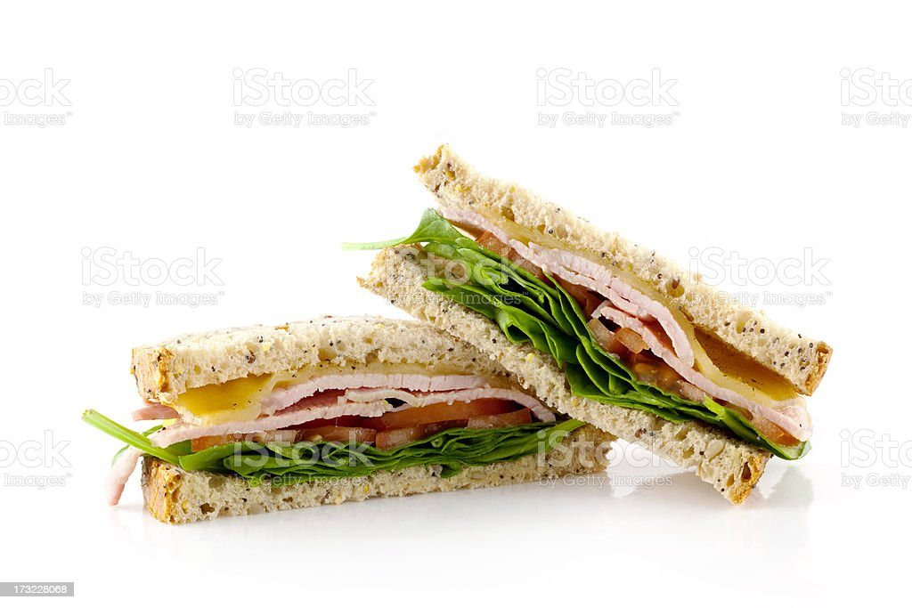 BLT Sandwich Detail stock photo