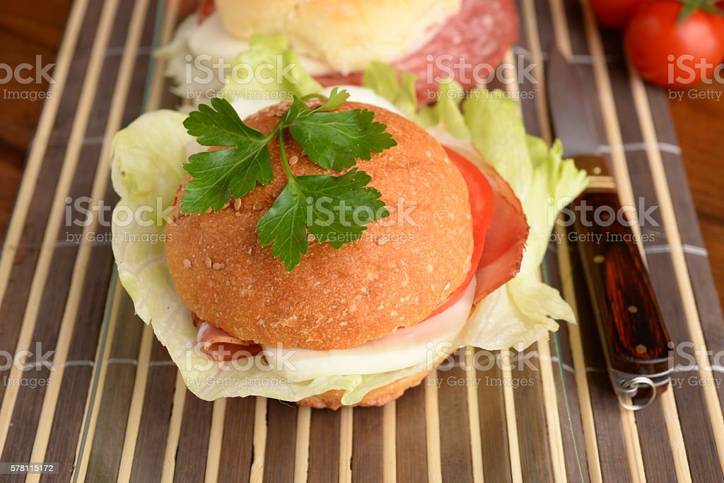 sandwich fillings stock photo