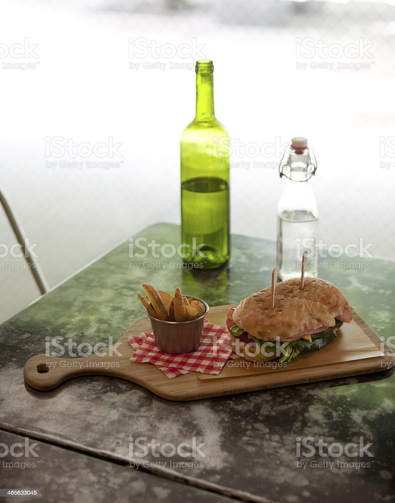 sandwich & french fries royalty-free stock photo