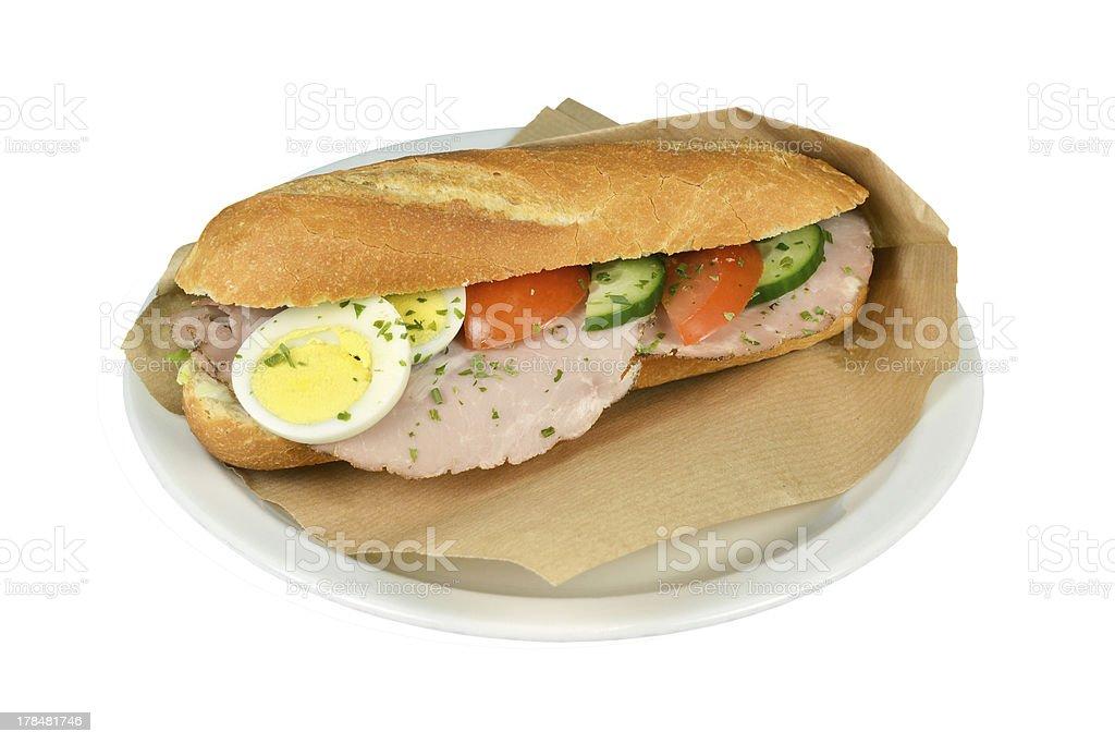 サンドイッチ fricandeau ます。 ロイヤリティフリーストックフォト