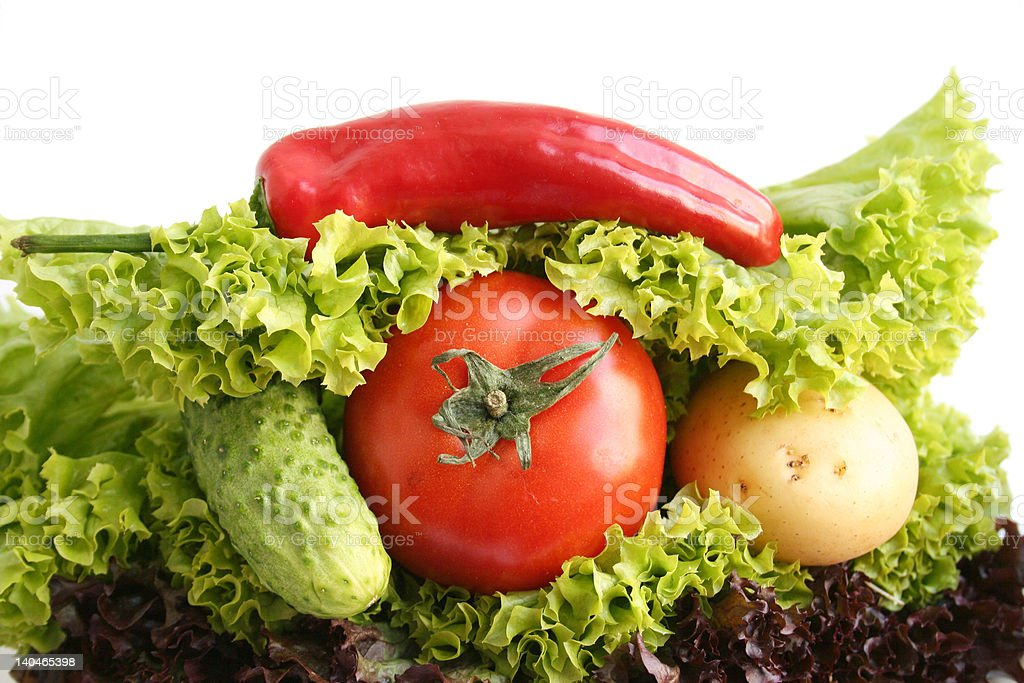 Sandwich from vegetables royalty-free stock photo