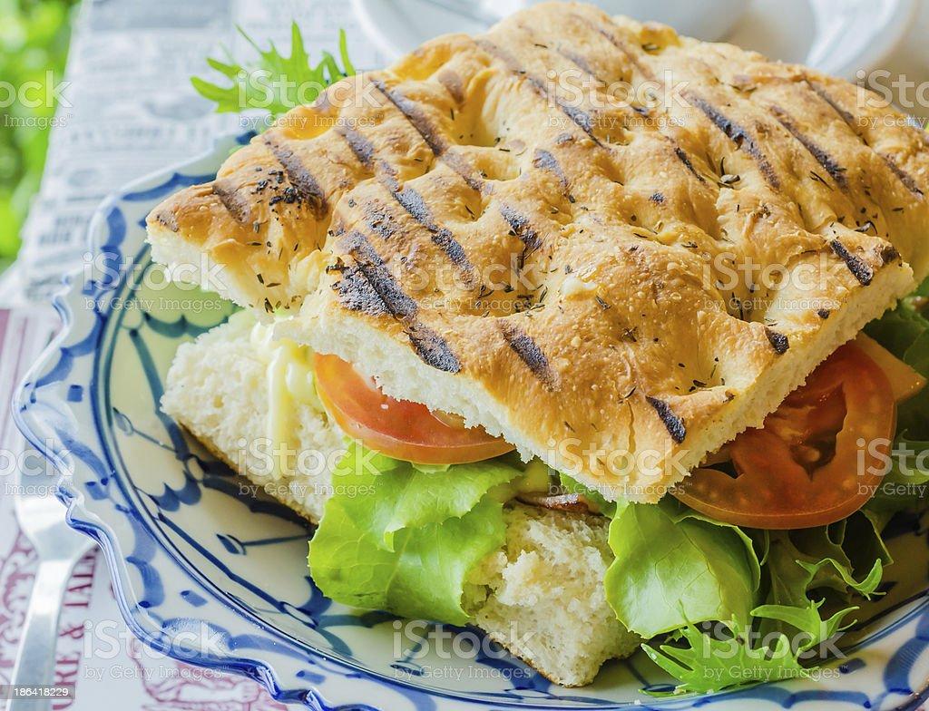 Sandwich ham&cheese royalty-free stock photo