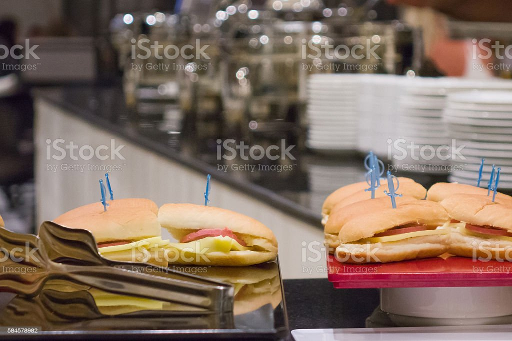 Sandwich in buffet stock photo