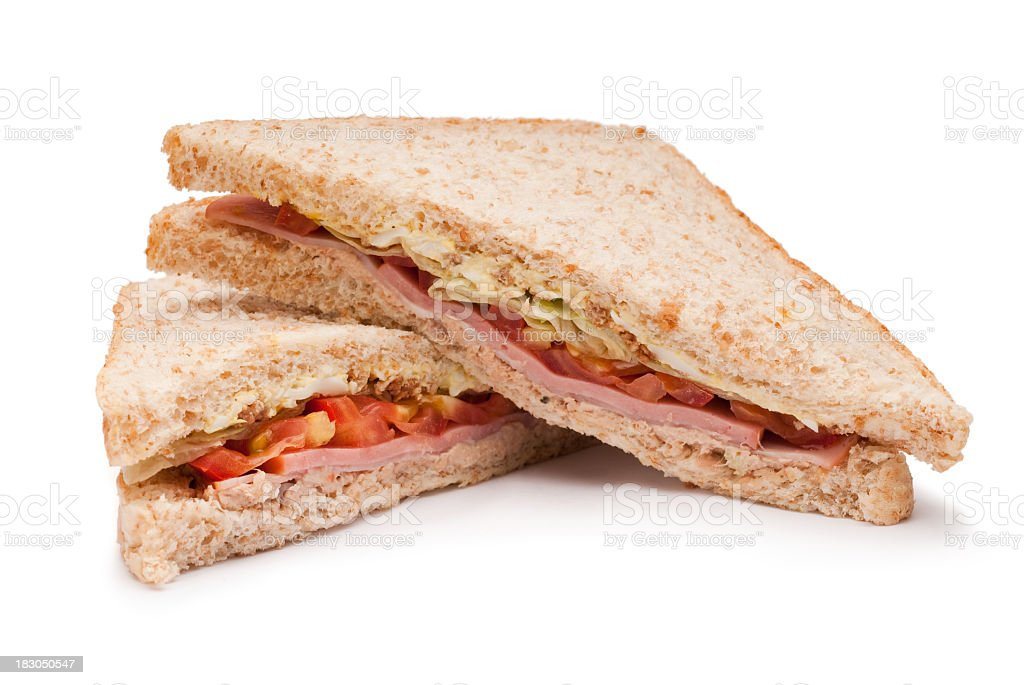Sandwich in two half royalty-free stock photo