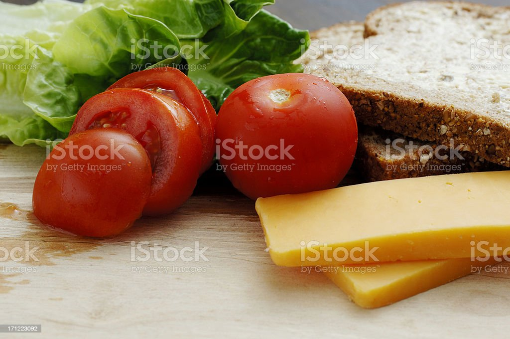 Sandwich ingredients royalty-free stock photo
