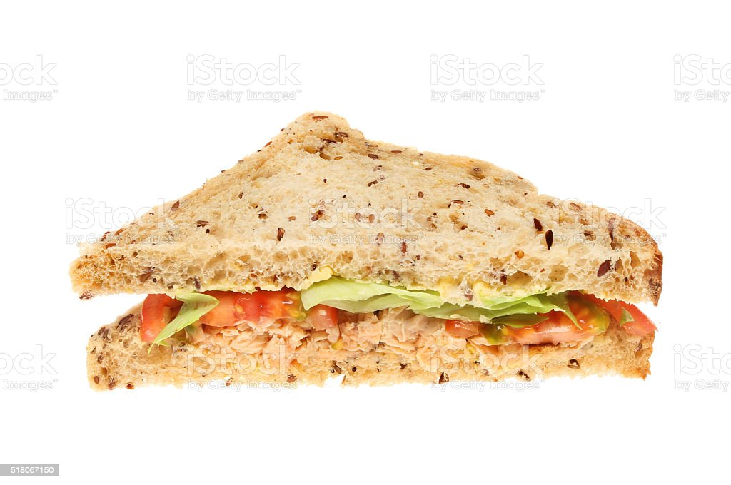 Sandwich isolated on white stock photo