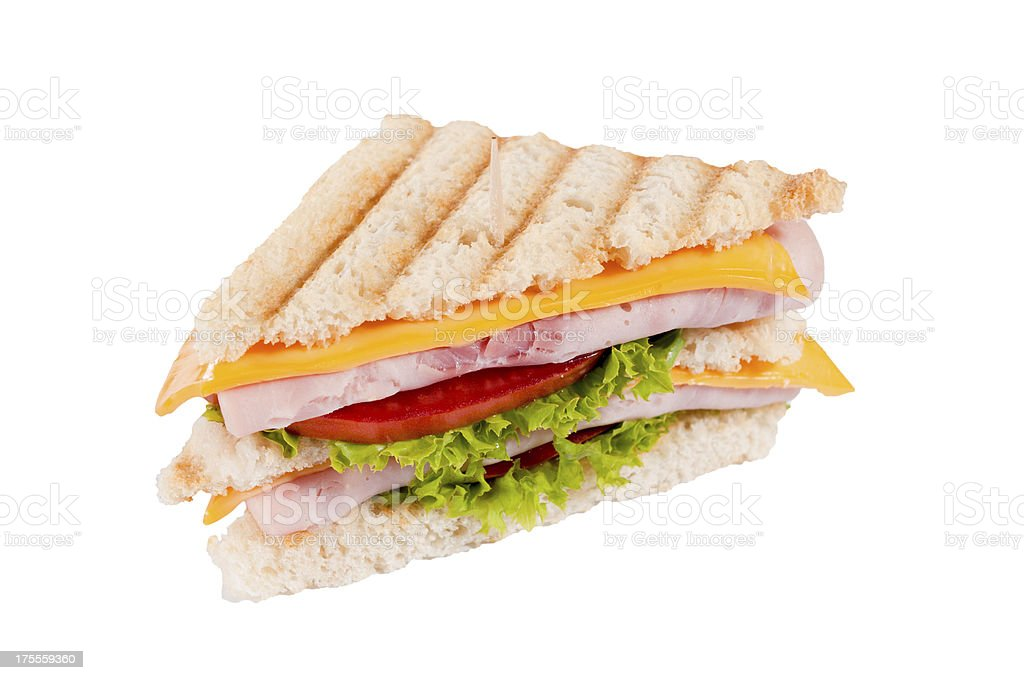 Sandwich isolated royalty-free stock photo