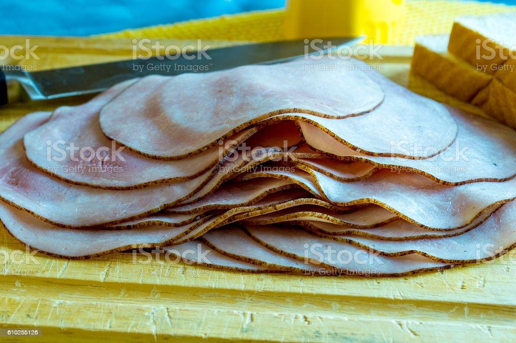 Sandwich makings stock photo