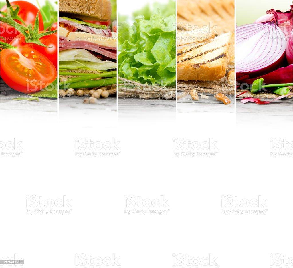 Sandwich Mix Slices stock photo