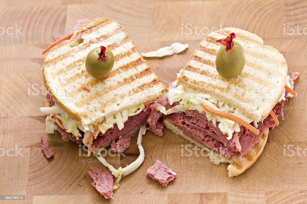 Sandwich On  A Cutting Board royalty-free stock photo