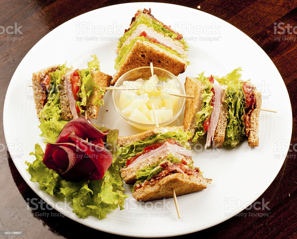 Sandwich on a plate royalty-free stock photo