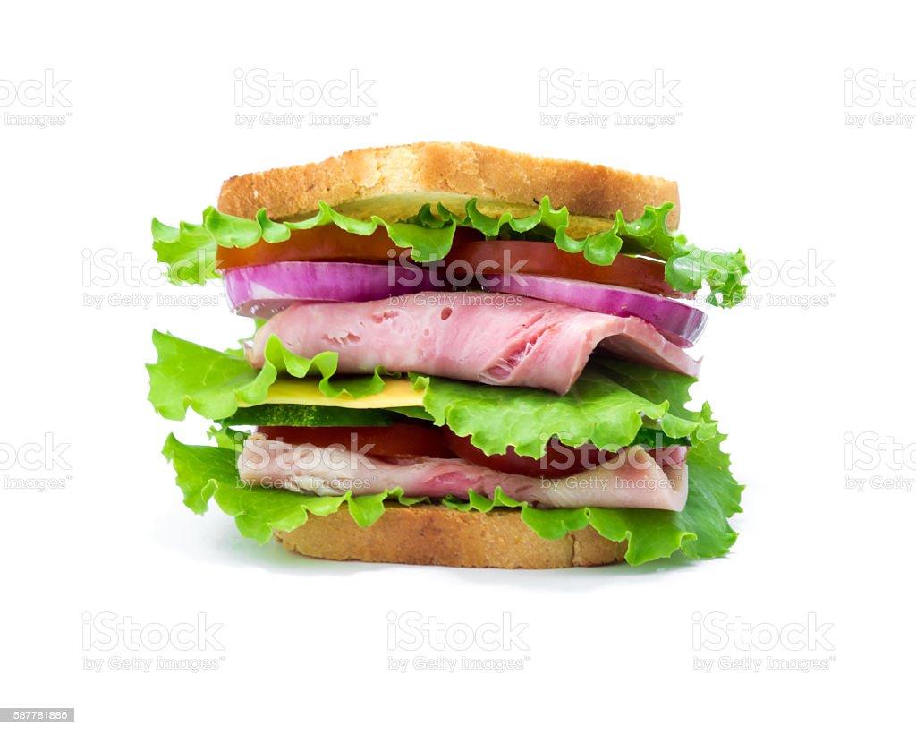 Sandwich over white stock photo